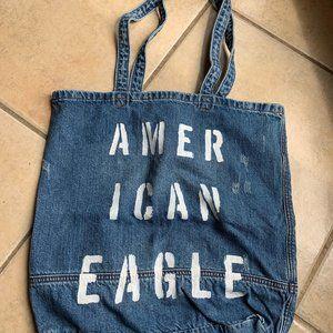 American Eagle Denim Tote Bag